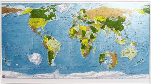 9780954606930: Colour Map: World Wall Map - Paper Tubed Version 1: Political with Physical Shading (Colourmaps)