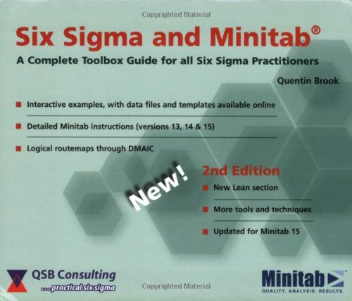 9780954681326: Six Sigma and Minitab: A complete toolbox guide for all Six Sigma practitioners (2nd edition)