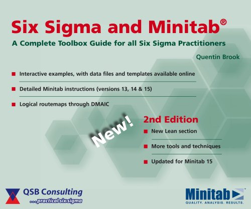 9780954681333: Six Sigma and Minitab: A Complete Toolbox Guide for All Six Sigma Practitioners