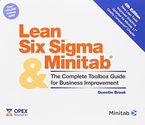 9780954681388: Lean Six Sigma and Minitab (4th Edition): The Complete Toolbox Guide for Business Improvement