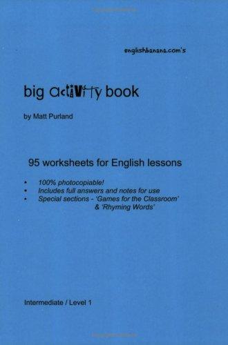 9780954698522: English Banana.com's Big Activity Book: 95 Worksheets for English Lessons