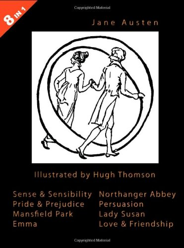 9780954840198: Jane Austen - 8 Books In 1: Sense & Sensibility, Pride & Prejudice, Mansfield Park, Emma, Northanger Abbey, Persuasion, Lady Susan, and Love & Friendship