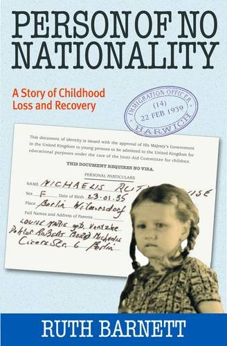 9780954848279: Person of No Nationality: A Story of Childhood Loss and Recovery