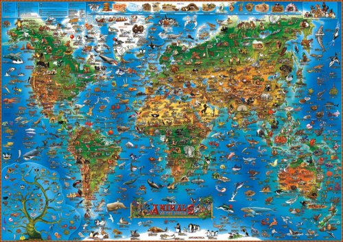 9780954905668: Children's Animals of the World Wall Map