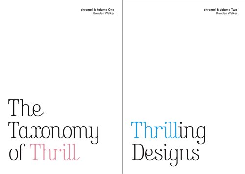 9780954928025: The Taxonomy of Thrill and Thrilling Designs: v. 1- 2: Chromo11