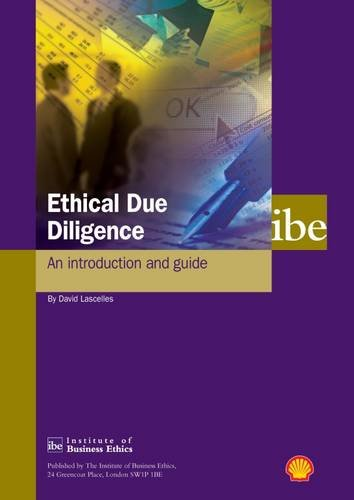 Ethical Due Diligence: an introduction and guide: David Lascelles