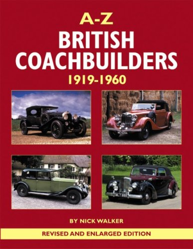 9780954998165: A-Z British Coachbuilders: 1919-1960 : And the Development of Styles & Techniques