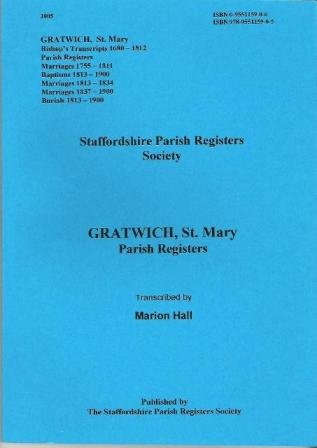 9780955115905: Gratwich, St. Mary, Parish Registers: 1680-1900