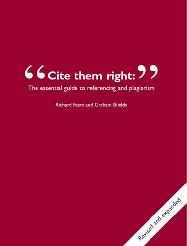 9780955121609: Cite Them Right: The Essential Guide to Referencing and Plagiarism