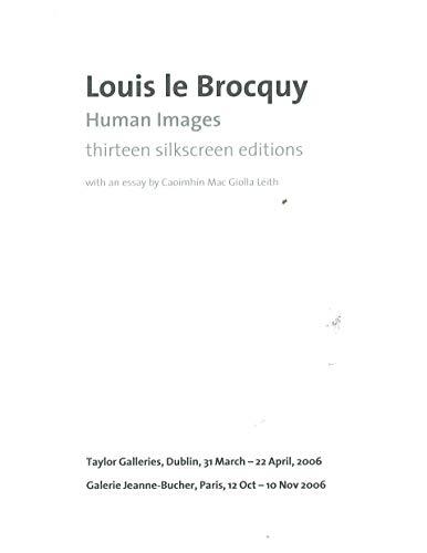 Louis le Brocquy: Human Images: thirteen silkscreen: Caoimhin Mac Giolla