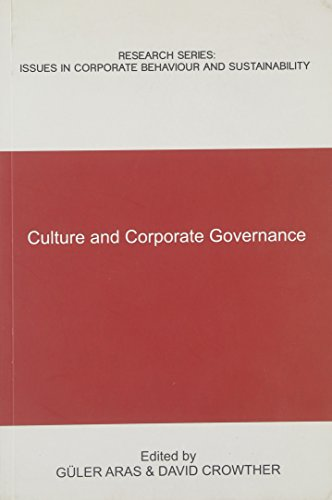 9780955157714: Culture and Corporate Governance