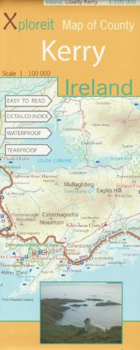 9780955265518: Xploreit Map of County Kerry (Ireland) 1:100K (Xploreit County Series)