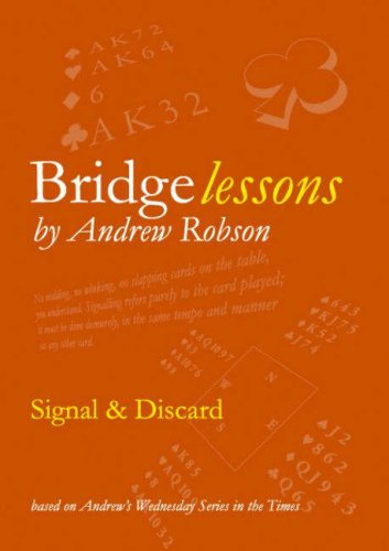 Bridge Lessons: Signal and Discard (0955294290) by Robson, Andrew