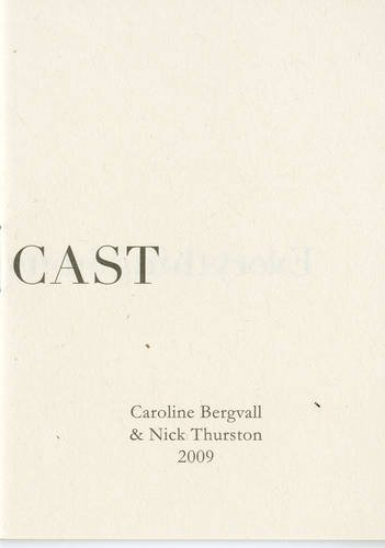 9780955309298: The Die is Cast: Caroline Bergvall and Nick Thurston
