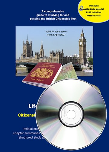 9780955485374: Life in the UK Test Study Material + CD-ROM (with audio) (Life in the UK Citizenship)