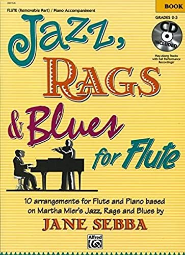 Jazz, Rags & Blues for Flute: Book & CD: Alfred Publishing