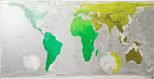 9780955558795: Future Map: Huge World Wall Map - Magnetic Tubed: An Equal Area Projection