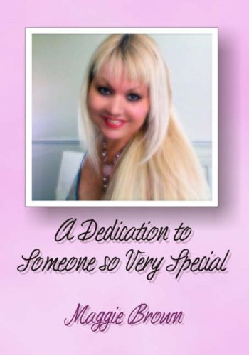 9780955575624: A Dedication to Someone So Very Special: A Collection of Poetry