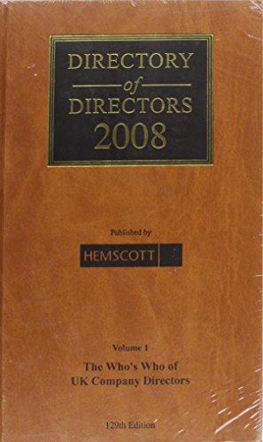 Directory of Directors 2008. (Hardback): Directory