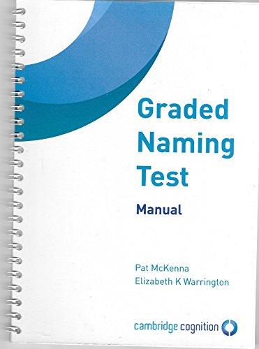 9780955645105: Graded Naming Test: Manual