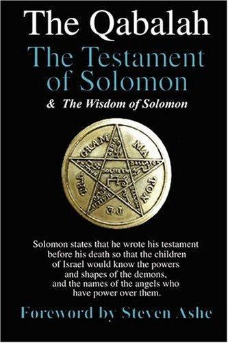 9780955693229: Qabalah - The Testament of Solomon - The Wisdom of Solomon