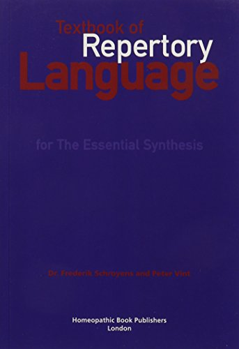 9780955715112: Textbook of Repertory Language: For Essential Synthesis