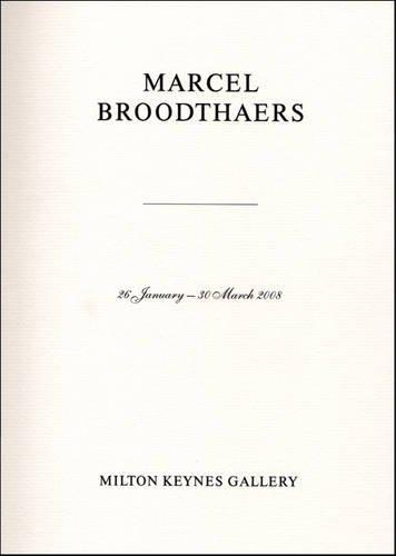 9780955761027: Marcel Broodthaers