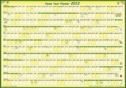 9780955776748: Home Year Wall Planner 2012