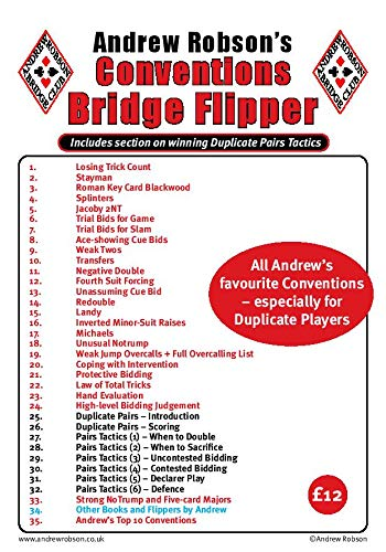 9780955781841: Andrew Robson's Conventions Flipper (Bridge Flipper)