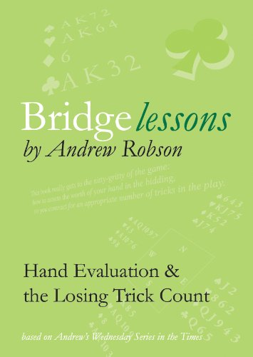 9780955781872: Bridge Lessons: Hand Evaluation & the Losing Trick Count
