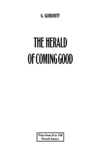 9780955909030: The Herald of Coming Good