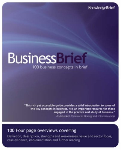 9780955913006: BusinessBrief: 100 Business Concepts in Brief (KnowledgeBrief)