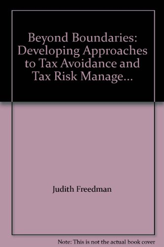 9780955935008: Beyond Boundaries: Developing Approaches to Tax Avoidance and Tax Risk Manage...