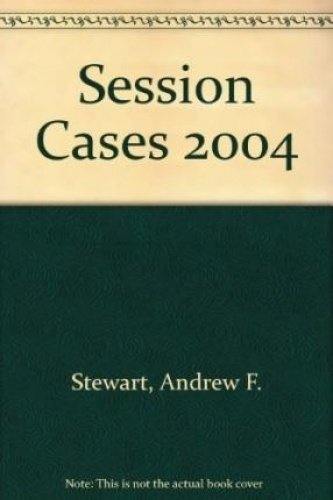 Session Cases 2015: Cases Decided in the: Andrew Stewart