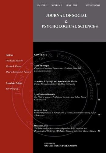 9780955969058: Journal of Social & Psychological Sciences