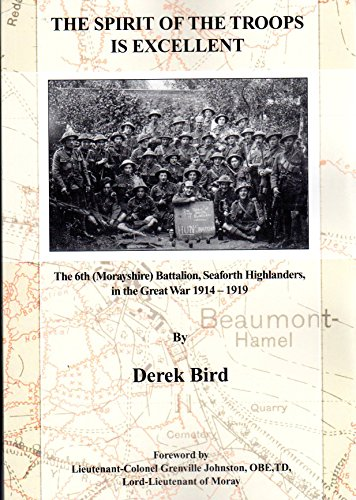 9780956022301: The Spirit of the Troops is Excellent: The 6th (Morayshire) Battalion, Seaforth Highlanders in the Great War 1914 - 1919