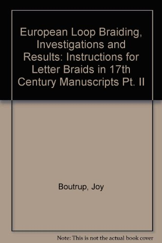 9780956262011: European Loop Braiding, Investigations and Results