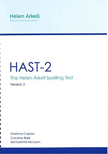 9780956407535: HAST-2: Version 2: The Helen Arkell Spelling Test