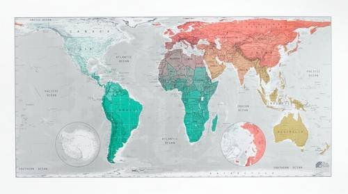 9780956432452: Future Map: World Wall Map - Magnetic Tubed Version 2: An Equal Area Projection