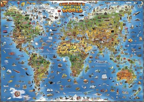 9780956487810: Children's Map of the World (Dino's Maps)