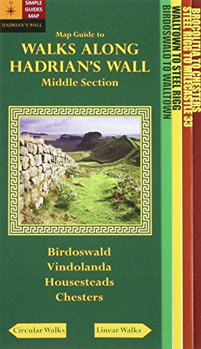 9780956521880: Walks Along Hadrians Wall: Middle Section. Map-Guide