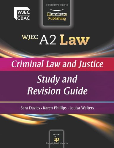 9780956840134: Wjec A2 Law - Criminal Law and Justice