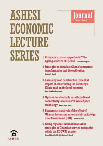 9780956967039: Ashesi Economic Lecture Series: Volume 2, Issue 1