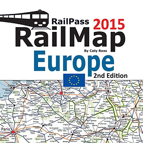 RailPass RailMap Europe 2015: Icon illustrated Railway: Ross, Caty