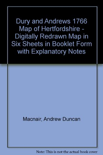 Dury and Andrews 1766 Map of Hertfordshire - Digitally Redrawn Map in Six Sheets in Booklet Form ...