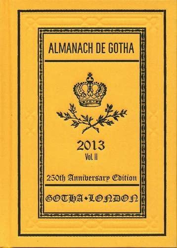 9780957519817: Almanach de Gotha 2013: Volume II Part III