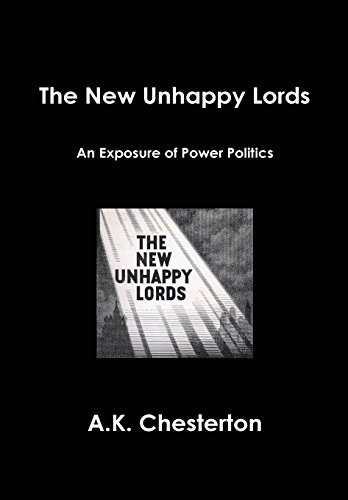 9780957540330: The New Unhappy Lords