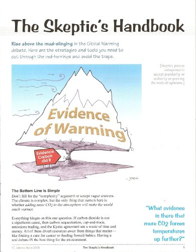 9780958168823: The Skeptic's Handbook (Evidence of Warming)