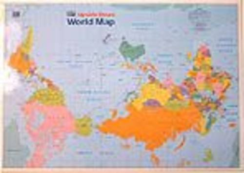 9780958230698: Kiwi Upside Down World Map