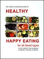 9780958458382: Illustrated Guide to Healthy Happy Eating - For All Blood Types - Food Therapy for Allergies, Slimming, Healing & Energy